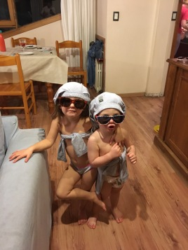Dressed up kids